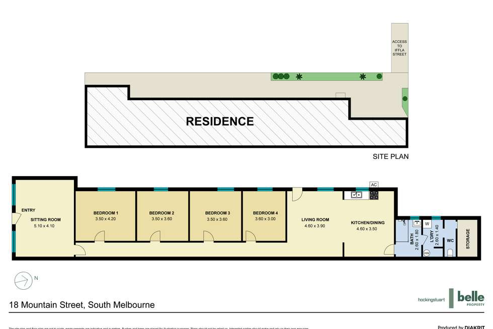 Floorplan of Homely house listing, 18 Mountain Street, South Melbourne VIC 3205