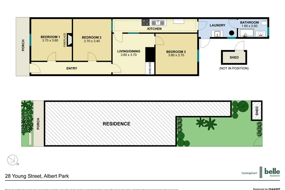 Floorplan of Homely house listing, 28 Young Street, Albert Park VIC 3206