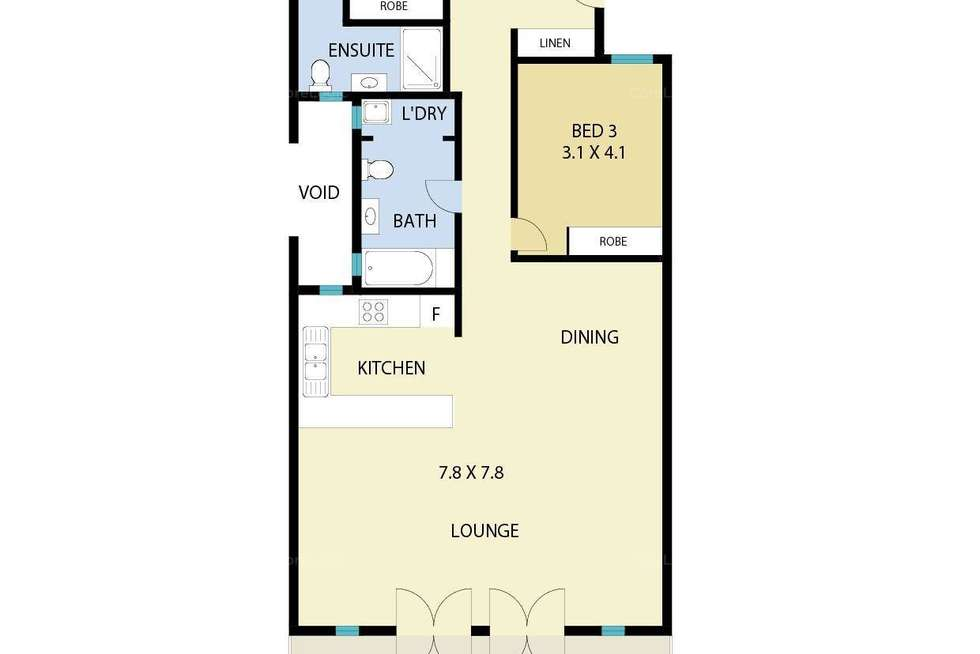 Floorplan of Homely unit listing, 19/12 Paspaley Place, Larrakeyah NT 820