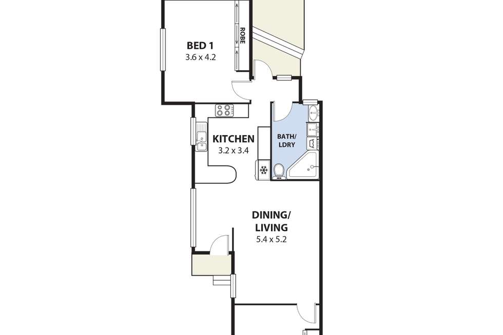 Floorplan of Homely semiDetached listing, 1/56 Euroka Street, West Wollongong NSW 2500