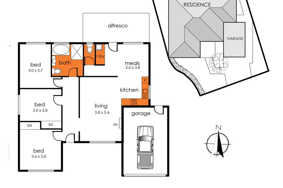 Floorplan of Homely house listing, 1/28 Station Crescent, Baxter VIC 3911