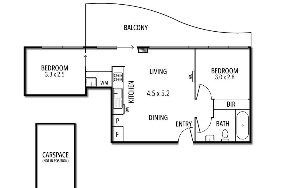 Floorplan of Homely apartment listing, 404/232 Rouse Street, Port Melbourne VIC 3207