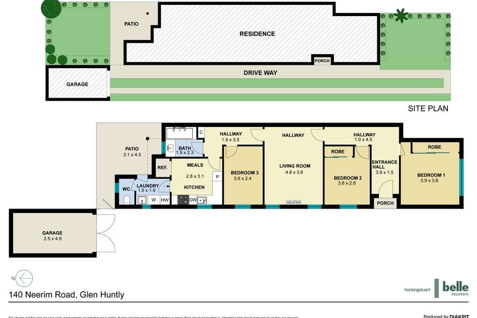 Floorplan of Homely house listing, 140 Neerim Road, Glen Huntly VIC 3163