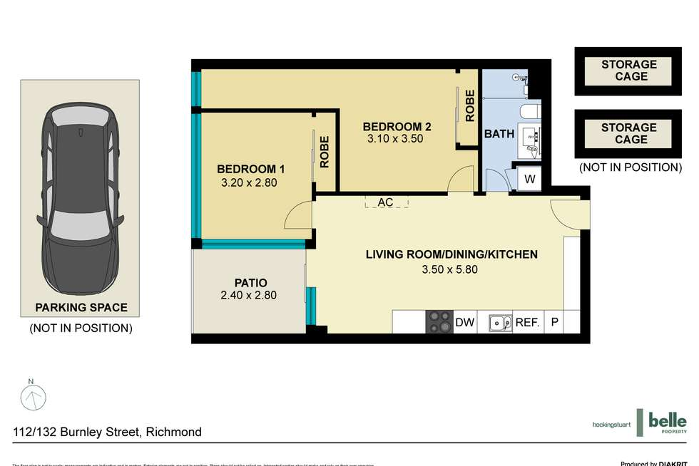 Floorplan of Homely apartment listing, 112/132 Burnley Street, Richmond VIC 3121