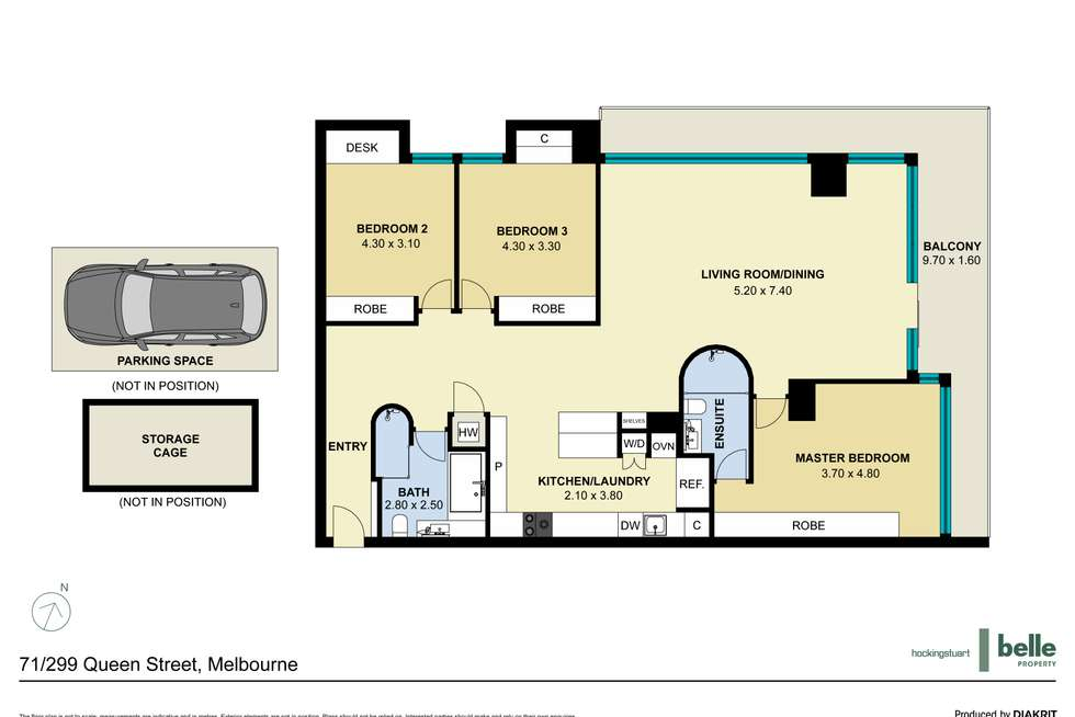 Floorplan of Homely apartment listing, 71/299 Queen Street, Melbourne VIC 3000