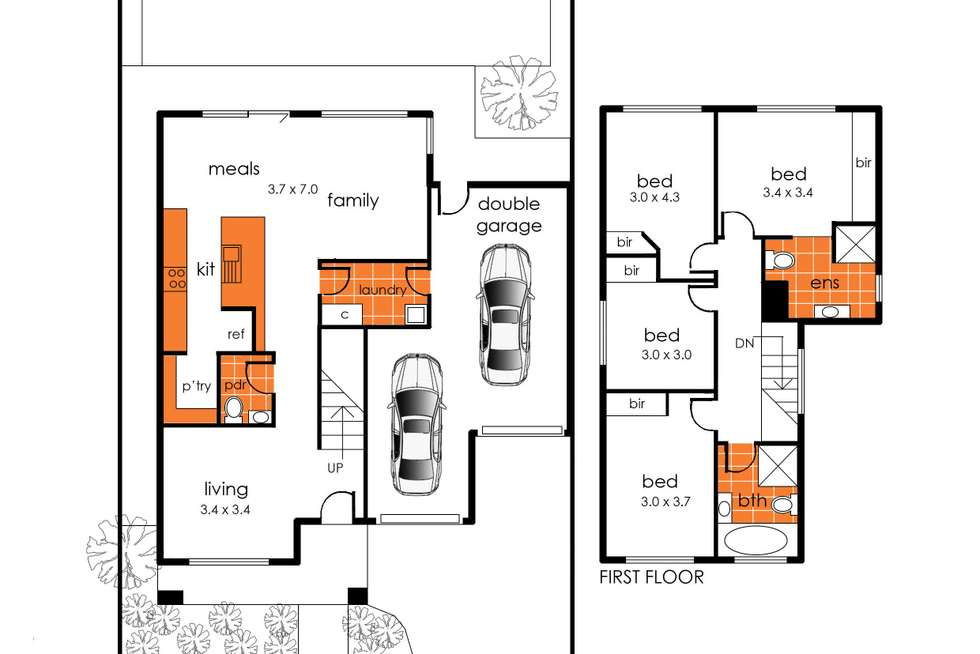 Floorplan of Homely house listing, 34 Cockatoo Road, Pakenham VIC 3810