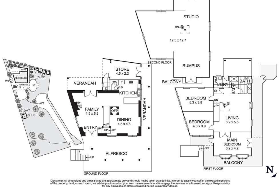 Floorplan of Homely house listing, 50 Arthur Street, Eltham VIC 3095