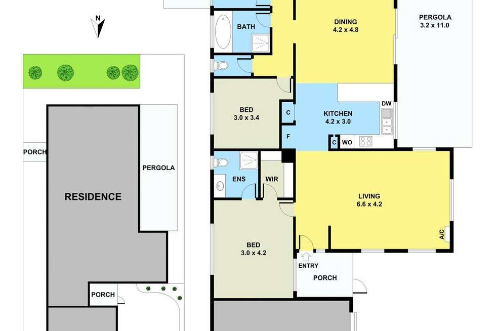 Floorplan of Homely house listing, 5 Ella Paige Place, Carrum Downs VIC 3201