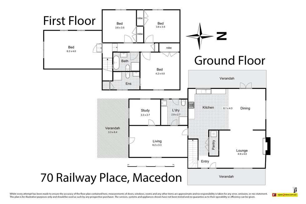 Floorplan of Homely house listing, 70 Railway Place, Macedon VIC 3440