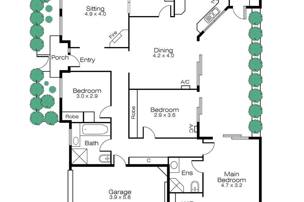 Floorplan of Homely townhouse listing, 28B Well Street, Brighton VIC 3186