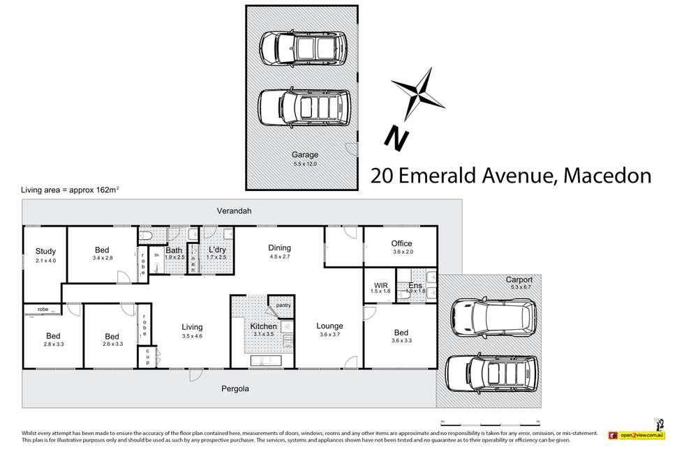 Floorplan of Homely house listing, 20 Emerald Avenue, Macedon VIC 3440