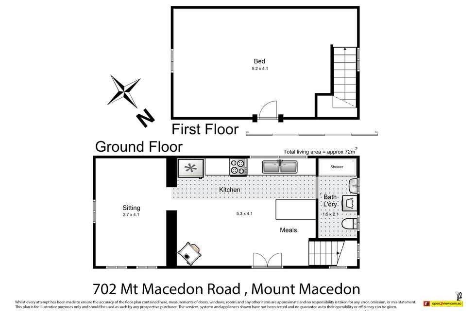 Floorplan of Homely house listing, 702 Mount Macedon Road, Mount Macedon VIC 3441