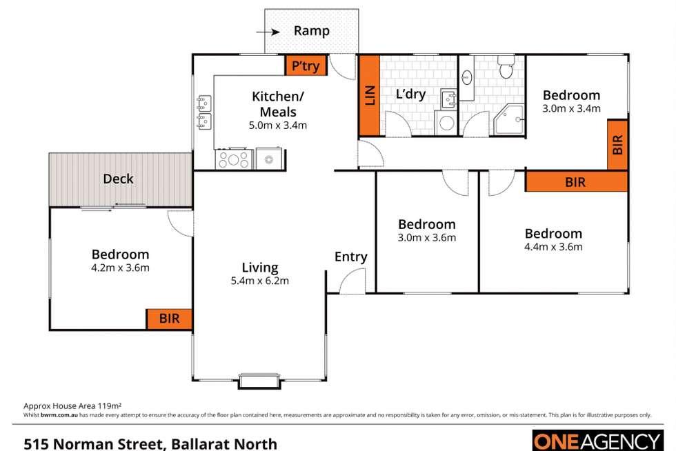 Floorplan of Homely house listing, 515 Norman Street, Ballarat North VIC 3350