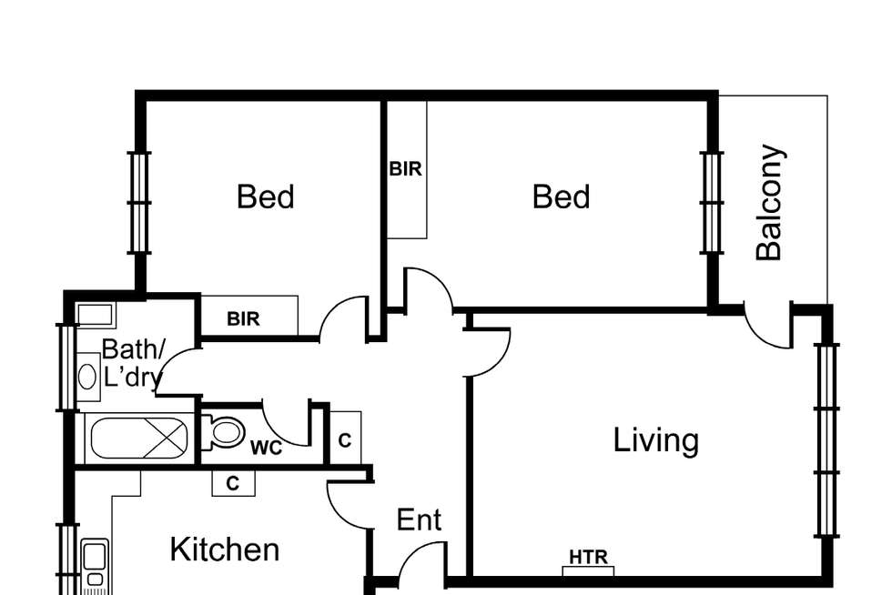 Floorplan of Homely unit listing, 3/23 Edgar Street, Glen Iris VIC 3146
