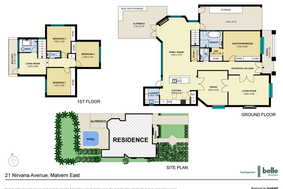 Floorplan of Homely house listing, 21 Nirvana Avenue, Malvern East VIC 3145