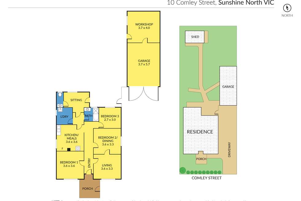 Floorplan of Homely house listing, 10 Comley Street, Sunshine North VIC 3020