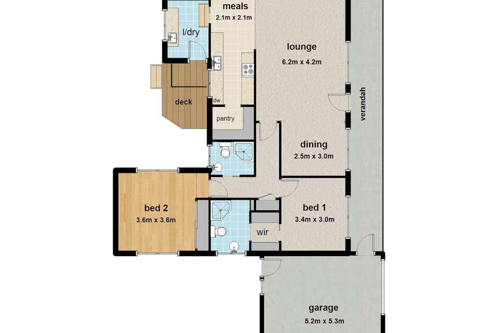 Floorplan of Homely house listing, 6 Lincoln Road, Warburton VIC 3799