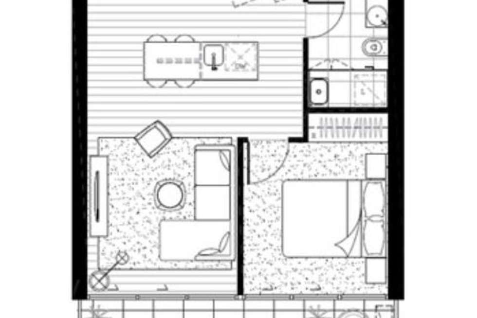 Floorplan of Homely apartment listing, 1501/68 Dorcas Street, Southbank VIC 3006