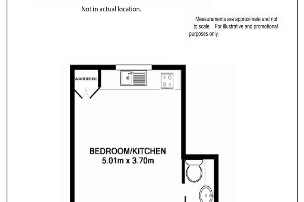 Floorplan of Homely studio listing, 61/595 Willoughby Road, Willoughby NSW 2068