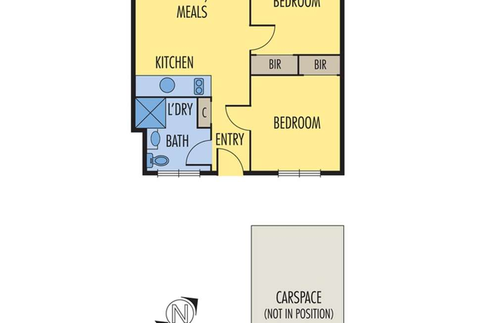 Floorplan of Homely apartment listing, 10/77 Chapman Street, North Melbourne VIC 3051