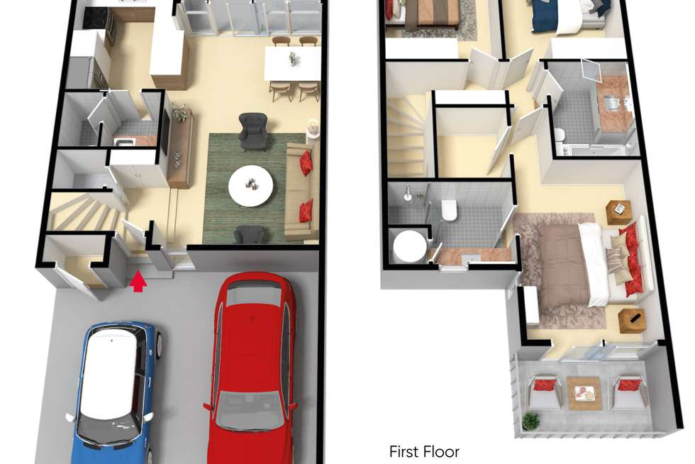Floorplan of Homely townhouse listing, 6/47 Mary Street, Richmond VIC 3121