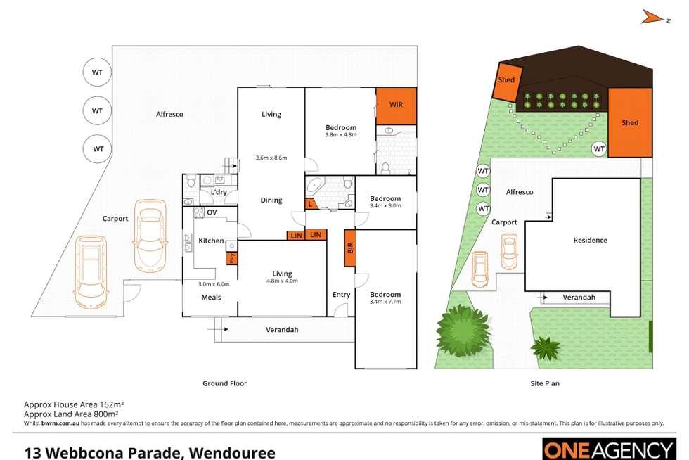Floorplan of Homely house listing, 13 Webbcona Parade, Wendouree VIC 3355