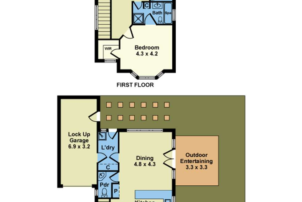 Floorplan of Homely townhouse listing, 4/43-45 Walter Street, Williamstown VIC 3016