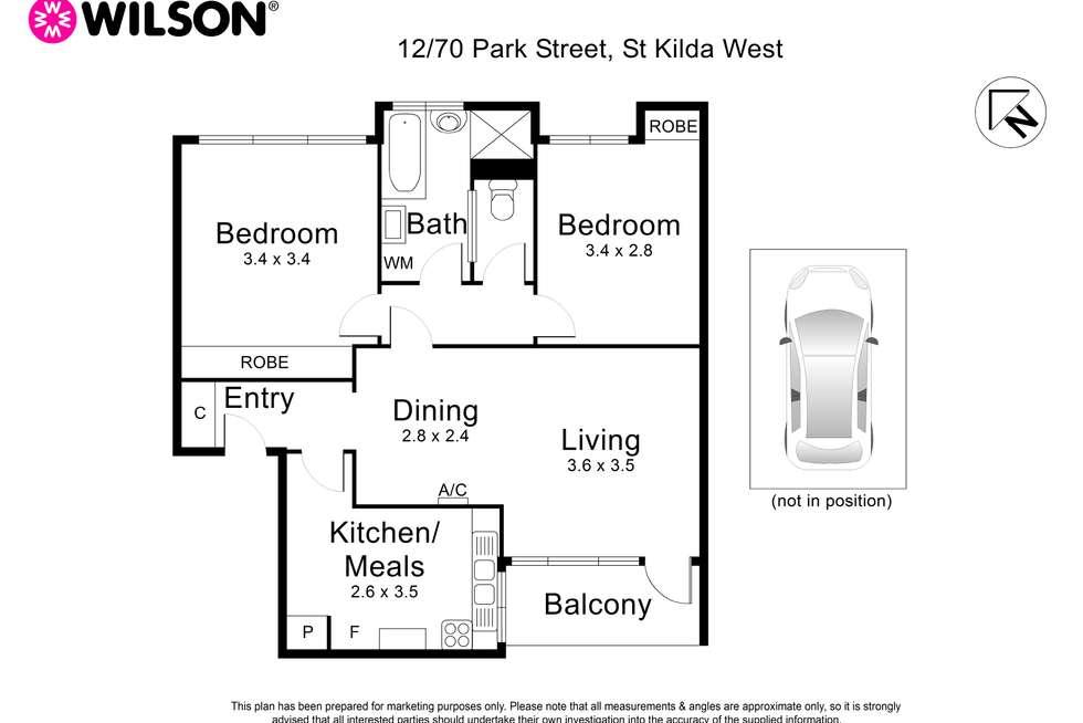 Floorplan of Homely apartment listing, 12/70 Park Street, St Kilda West VIC 3182