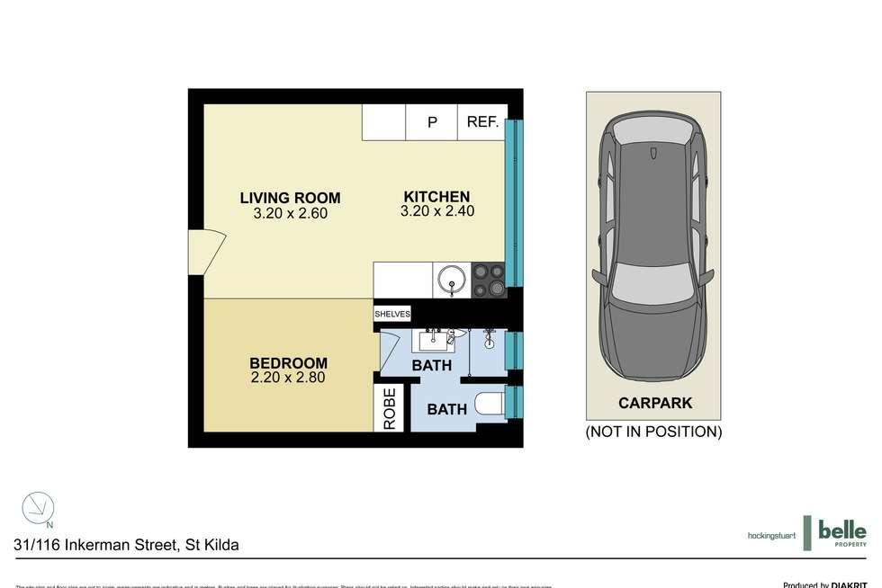 Floorplan of Homely studio listing, 31/116 Inkerman Street, St Kilda VIC 3182