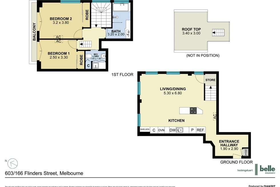 Floorplan of Homely apartment listing, 603/166 Flinders Street, Melbourne VIC 3000