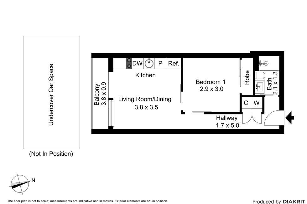 Floorplan of Homely apartment listing, 206/3 Clara Street, South Yarra VIC 3141