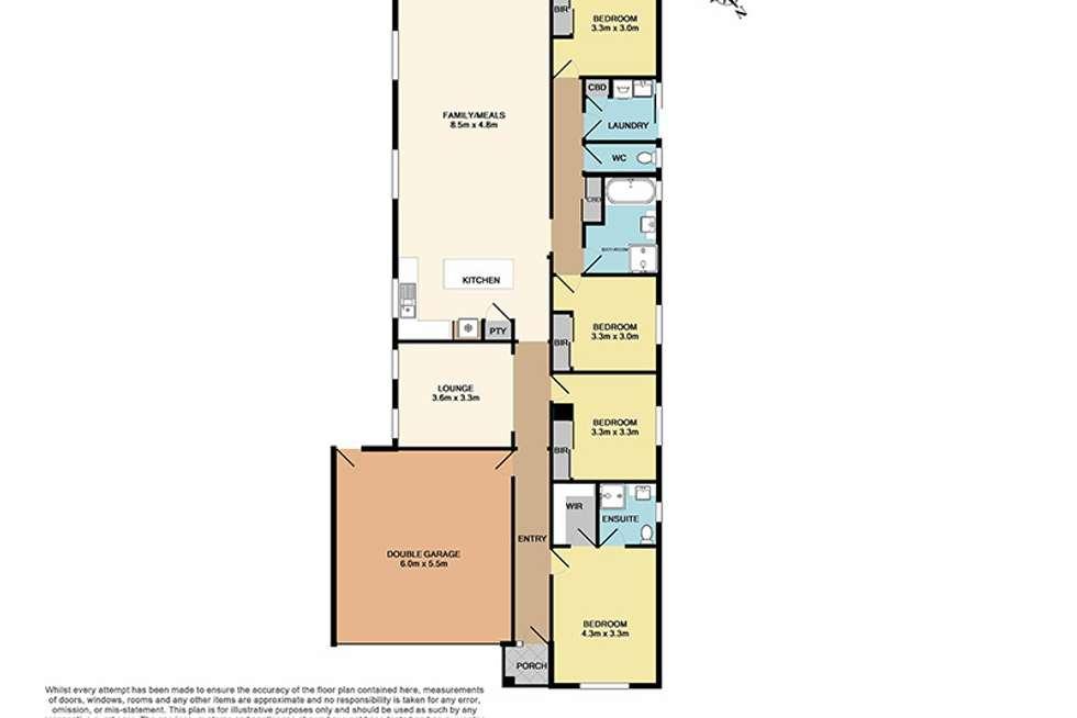 Floorplan of Homely house listing, 54 Melissa Way, Pakenham VIC 3810