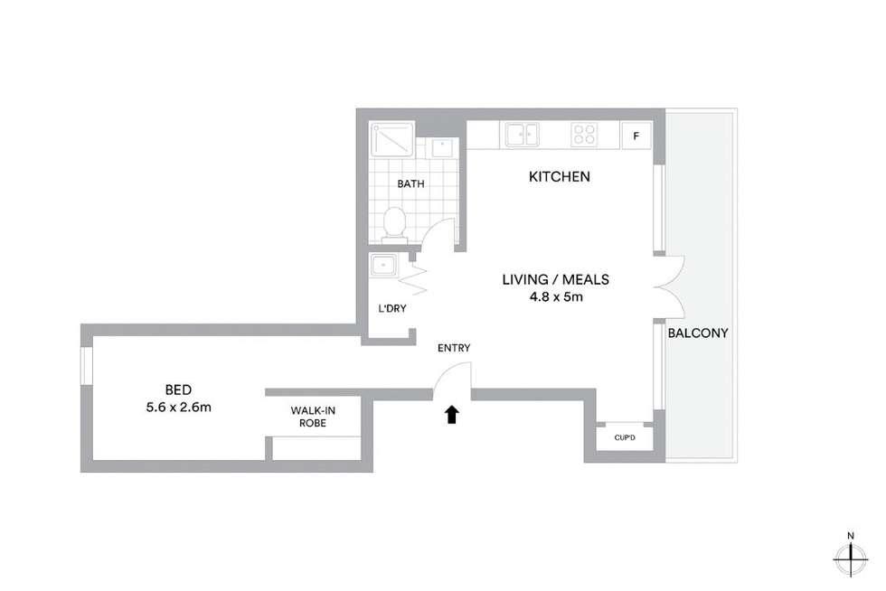 Floorplan of Homely apartment listing, 10B/128-140 Chapel Street, St Kilda VIC 3182