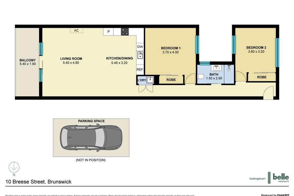 Floorplan of Homely apartment listing, 24/10 Breese Street, Brunswick VIC 3056