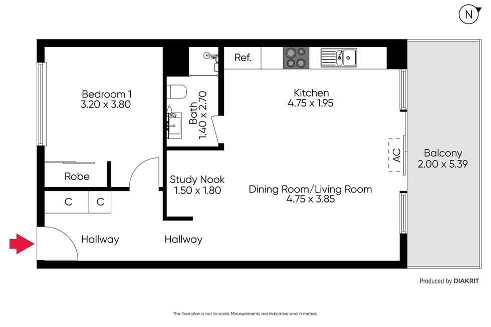 Floorplan of Homely apartment listing, 203/44 Beach Street, Frankston VIC 3199