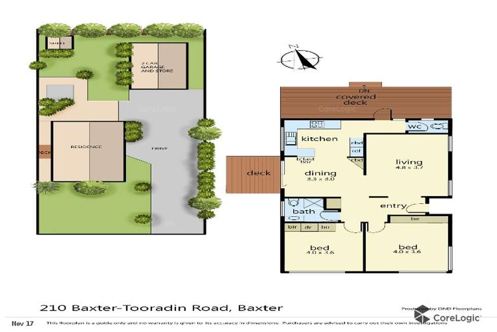 Floorplan of Homely house listing, 210 Baxter-Tooradin Road, Baxter VIC 3911
