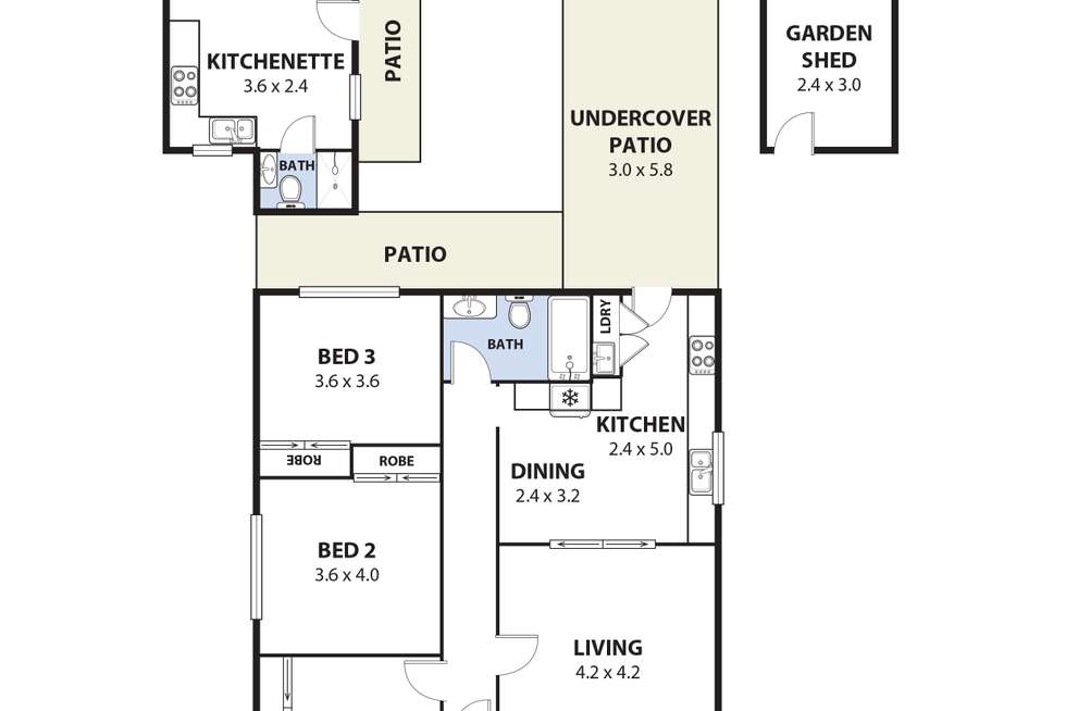 Floorplan of Homely house listing, 10 Prospect Street, Mount Saint Thomas NSW 2500