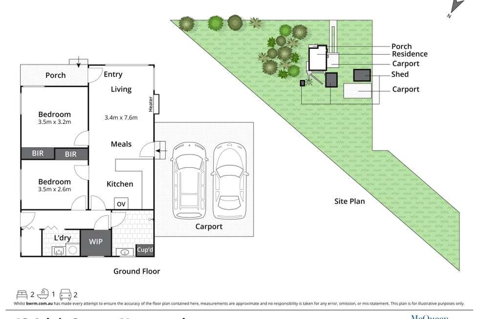 Floorplan of Homely house listing, 13 Adair Street, Newstead VIC 3462