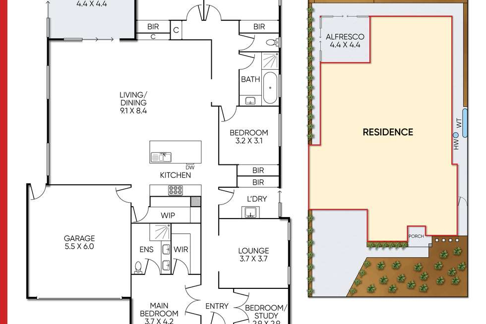 Floorplan of Homely house listing, 30 Fortescue Boulevard, Manor Lakes VIC 3024