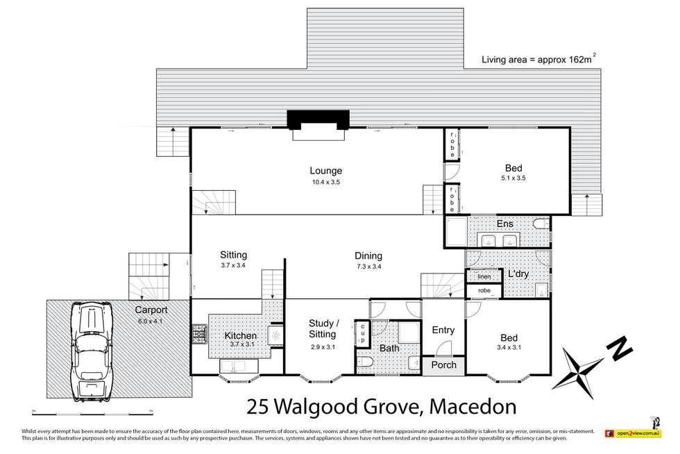 Floorplan of Homely house listing, 25 Walgood Grove, Macedon VIC 3440