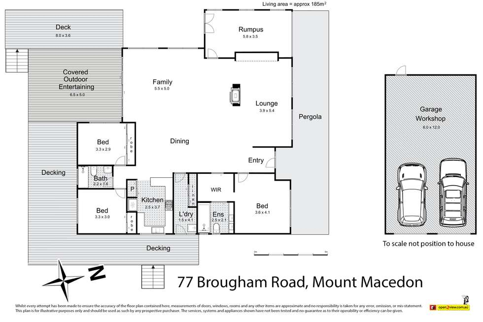 Floorplan of Homely house listing, 77 Brougham Road, Mount Macedon VIC 3441