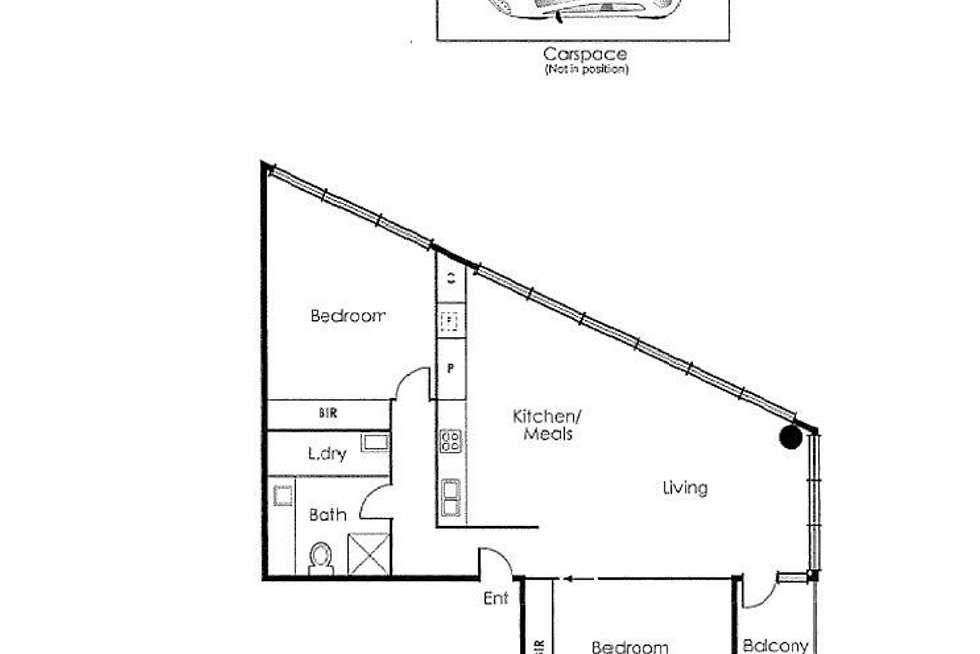 Floorplan of Homely apartment listing, 906/50 Lorimer Street, Docklands VIC 3008