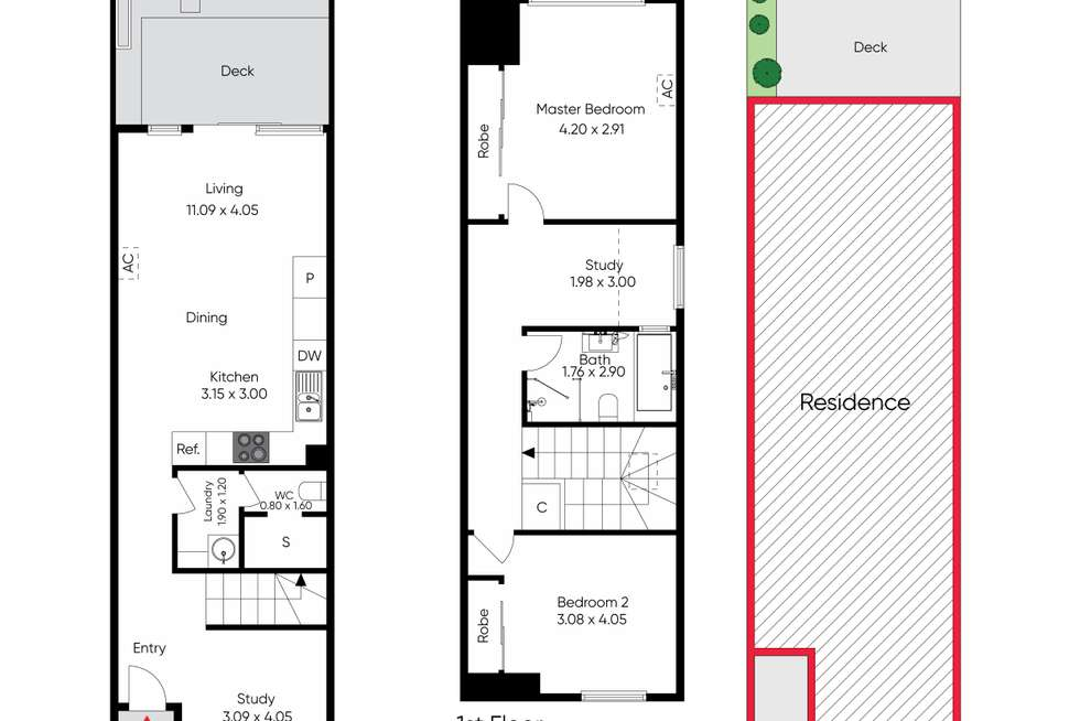 Floorplan of Homely townhouse listing, 49 Garfield Street, Richmond VIC 3121
