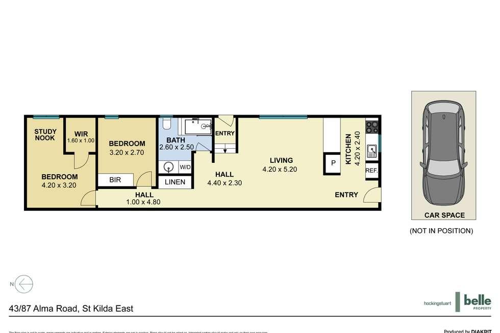 Floorplan of Homely apartment listing, 43/87 Alma Road, St Kilda East VIC 3183