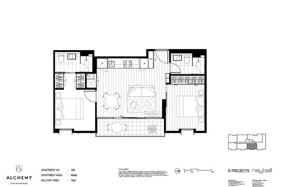 Floorplan of Homely apartment listing, 199 Peel Street, North Melbourne VIC 3051