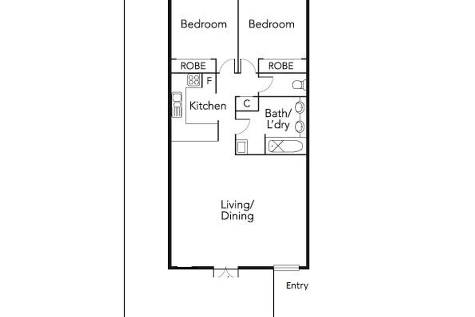 Floorplan of Homely apartment listing, 13/77 Coventry Street, Southbank VIC 3006