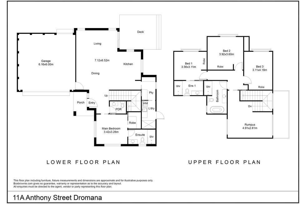 Floorplan of Homely townhouse listing, 11A Anthony Street, Dromana VIC 3936