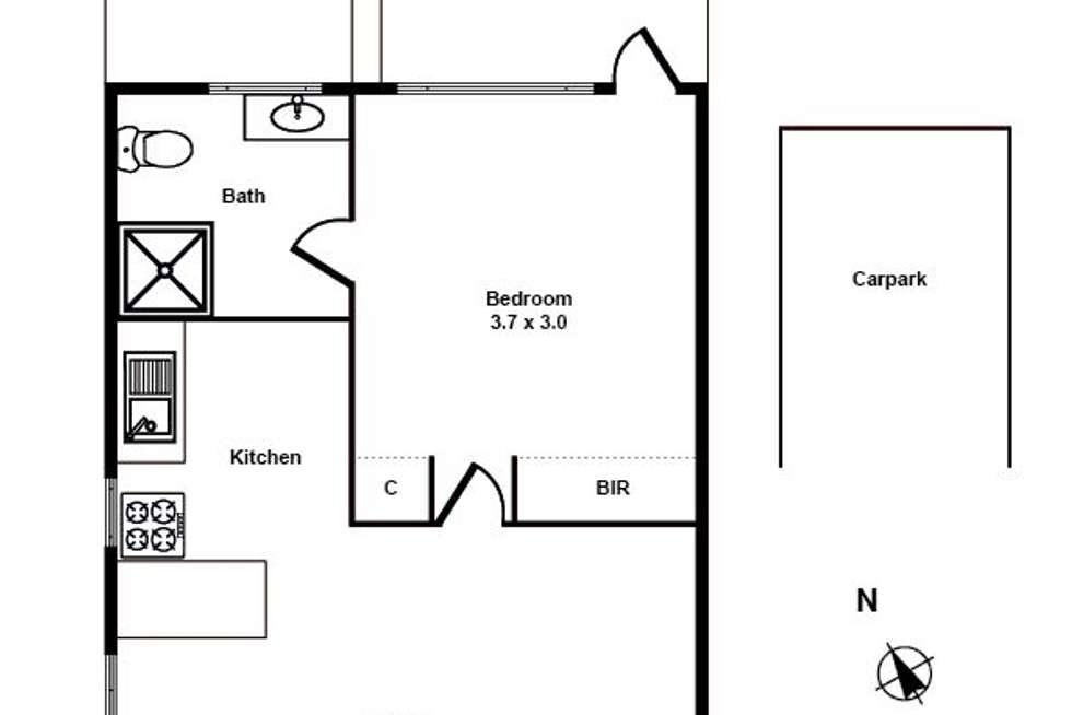 Floorplan of Homely unit listing, 5/41 Carroll Crescent, Glen Iris VIC 3146