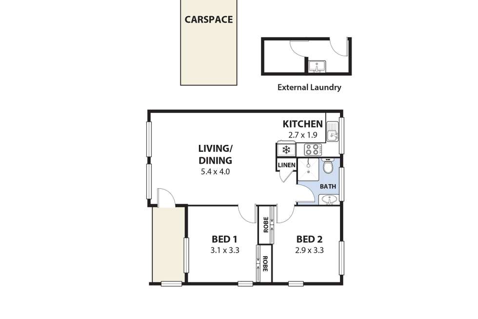 Floorplan of Homely unit listing, 1/9 England Street, West Wollongong NSW 2500