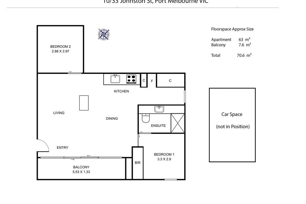 Floorplan of Homely apartment listing, 10/33 Johnston Street, Port Melbourne VIC 3207